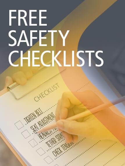 A list of safety checklist